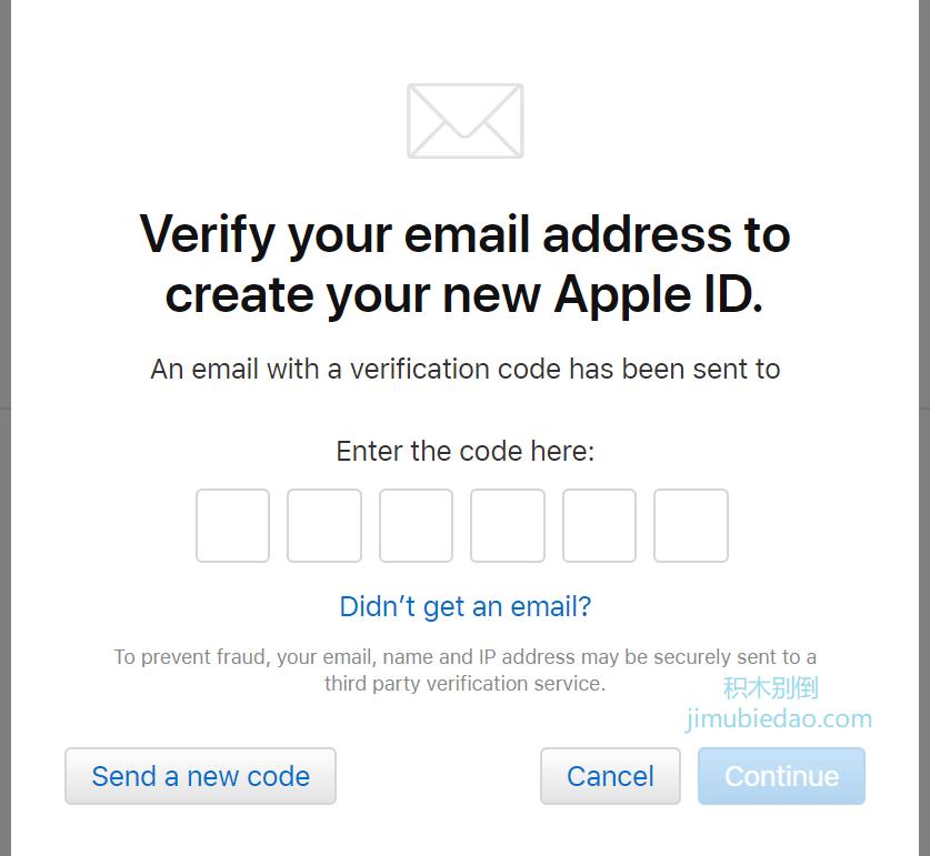 创建美区apple id第四步