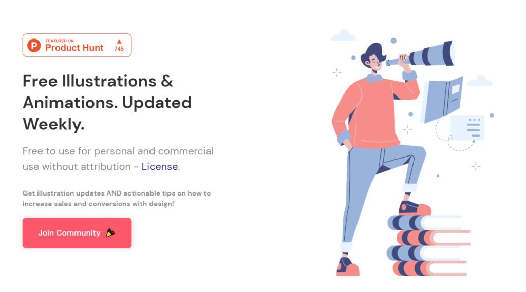 15个免费可自定义插画素材网站推荐 (2021年3月更新)